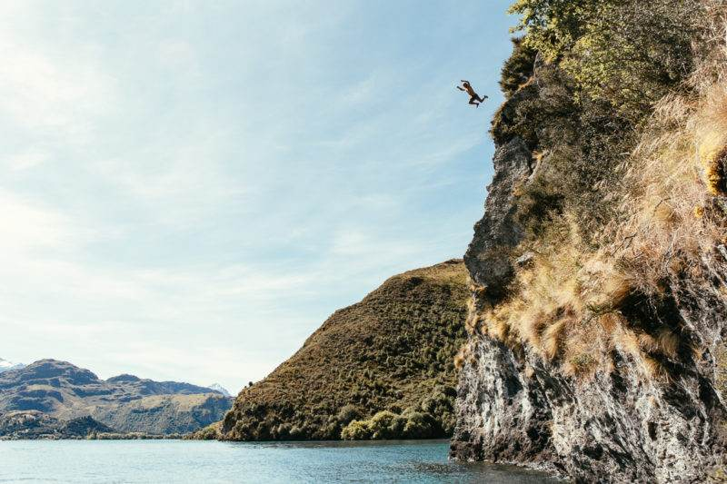 Cliff jumping in NZ
