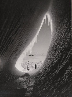 Frank Hurley Ice Cave man