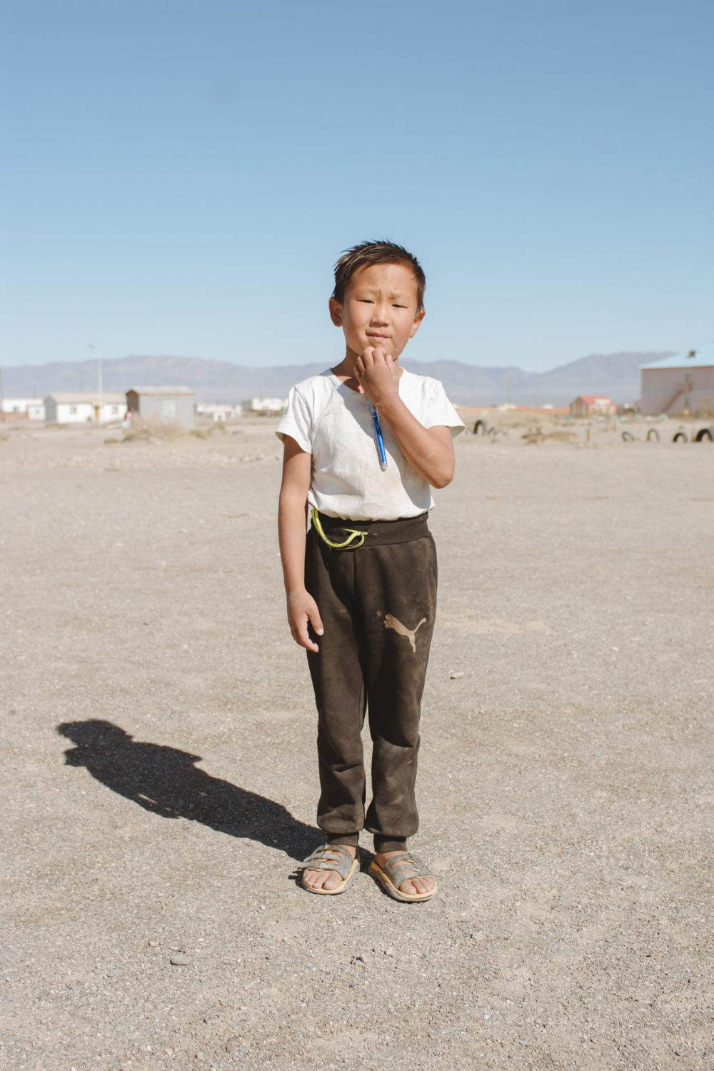 Little Kid in the Gobi Desert, Mongolia. by Photographer Alejandro Llop