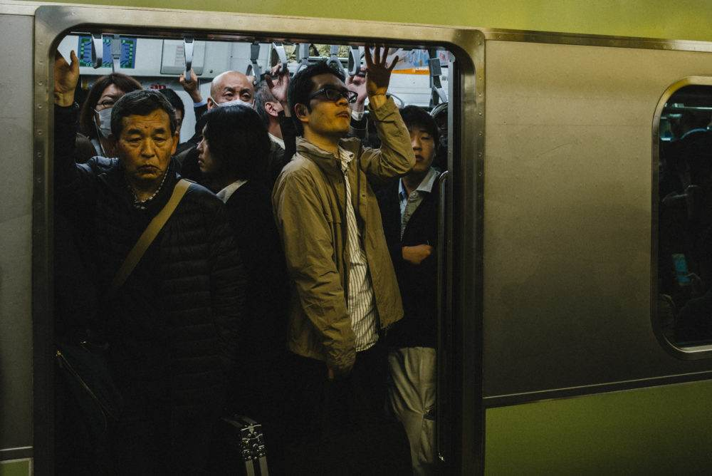 Shinjuku Station Rush Hour, Japan by Chris Mongeau
