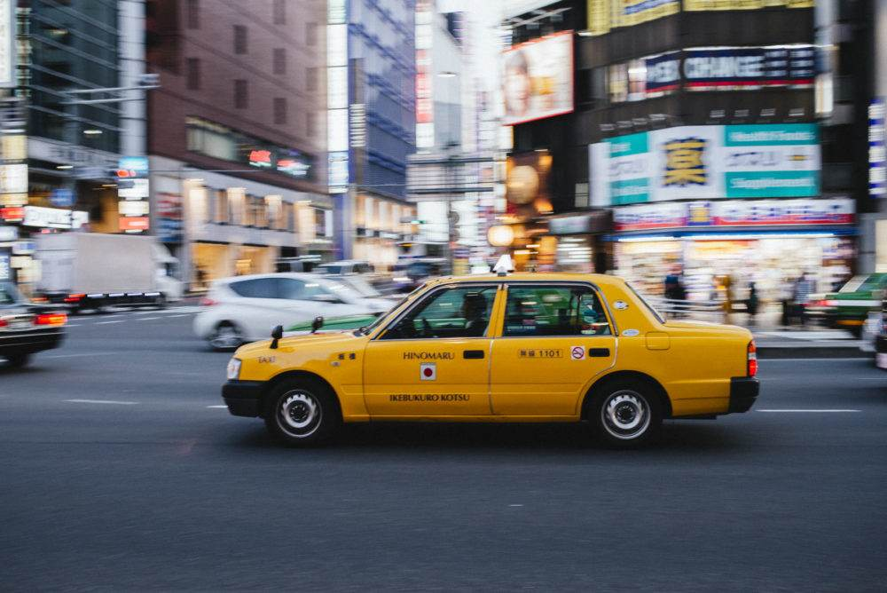 Shinjuku Taxi Japan by Chris Mongeau